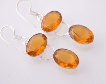 HOLIDAY SPECIAL: Pair of Awesome Looking Honey Quartz Earrings  #15-62