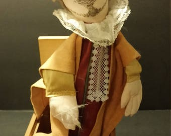 """Vintage """"Shakespeare"""" jack-in-box handcrafted by JAX of Maine"""