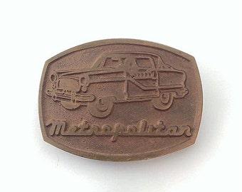 Vintage Brass Metropolitan Automobile Belt Buckle