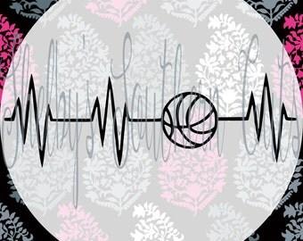 Basketball - Heartbeat - SVG - READ DESCRIPTION