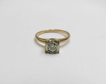 antique diamond engagement ring size 6 3/4
