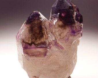 Smoky Amethyst Elestial Quartz Crystal Specimen, Brandberg Goboboseb Namibia