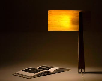 wooden lamp,wood table lamp, light fixture, wooden light fixture, veneer lamp shade, lamp desk, Wood Lighting, handmade lamps, bedside lamp