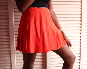 Orange Tennis Skirt