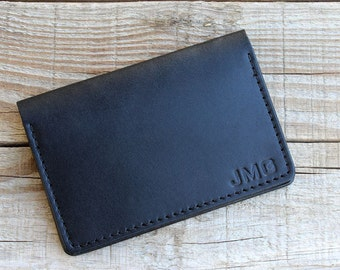 Personalized Wallet, Mens Personalized Leather Wallet, Mens Personalized Billfold, Bifold Wallet, Full Grain Leather