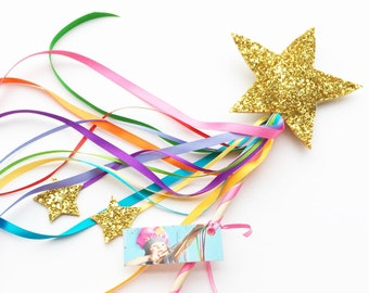 Super Sparkly Star Magic Wand (Gold)