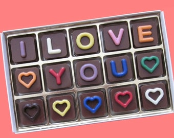 Personalized Gift for Him Men Customized Gifts Her Woman Romantic Message Valentines Gift I Love You Custom Name Jelly Bean Chocolate Cube