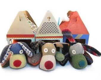 Chien peluche Kit de fabrication de l'Animal (Premium récupéré laine), couleurs peuvent varier, Cate et Levi, bricolage, couper et coudre, Kit de couture débutant
