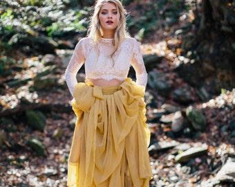 Wedding Separate - Wedding Skirt - Chiffon Wedding Dress - Florence Skirt - Chiffon - No Train