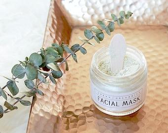 FACIAL MASK // 'Refresh' Anti-Aging Green Tea & Seaweed Clay Mask - - - Vegan ∙ Organic ∙ 100% Natural