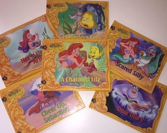Vintage 90s Disney Books, The Little Mermaid Treasure Chest Books, Set of 6 Little Mermaid Books, Disney Children's Books