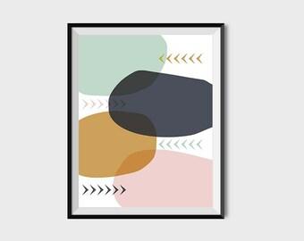 scandinavian art, nordic design, modern print, mid century print, abstract art print, printable, kivapaca, wall art, home decor, minimal art