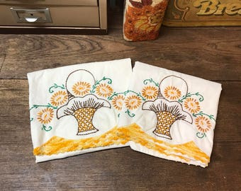 Vintage Pillowcases Set of 2 old and Awesome!