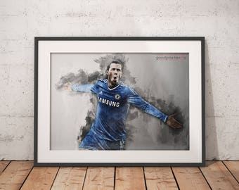 Eden Hazard print Chelsea poster wall art home decor