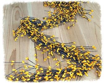 Yellow Pip Berry Garland, Spring Garland, Wedding Garland, Yellow Wreath, Wreath Making