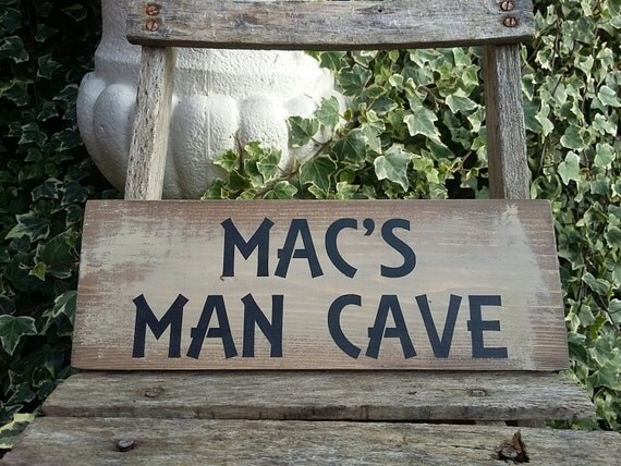 Cool Man Cave Signs : Handmade rustic wooden personalised man cave sign plaque gift
