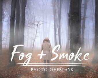 Set Fog and Smoke Photo Overlays, mist overlays, photoshop overlay, fog overlay, smoke overlay