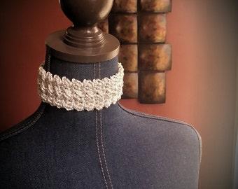 """The """"Gabby"""" Crochet Choker"""