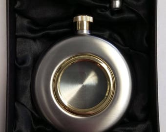Personalised 5oz Port Hole Hip Flask & Funnel Gift