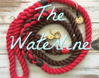 WATERLINE Leash - Maritime Rope Collection Dog Leash, Dog Lead, Rope Lead, Cotton Rope Leash, Handmade Rope Leash