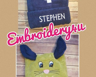 Personalized Bath Towels, Easter Gift, Bunny Gift, Easter, Embroidered Towels, Bath Towels