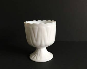 Vintage Milk glass planter, vintage milk glass bowl, milk glass vase, compote, small milk glass compote, milkglass planter, milkglass bowl