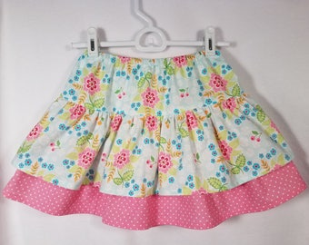 Spring Flowers with Pink Dot Skirt