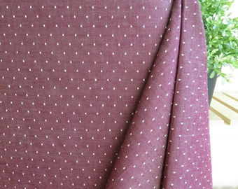 Robert Kaufman Burgundy Chambray Dots 57in Wide | Cotton Chambray Dots Collection | By the yard