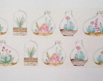 Design Washi tape plant vase glass flower