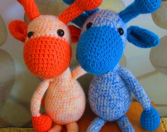 crochet boy-girl giraf, Twin present, Amigurumi giraffes, baby gift twin giraffes,dieren,Häkeln Giraffes, uncinetto giraffes, giraf tweeling
