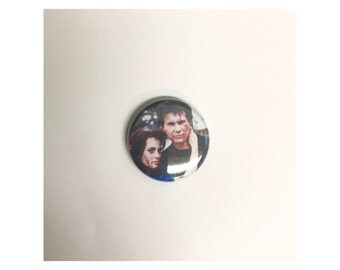 "1"" Heather's pin back button"