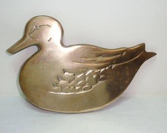 """Brass duck trivet. Brass hot plate is 8"""" long by 5"""" wide all brass kitchen decor duck hot plate.."""