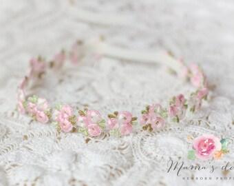 Vintage flower headband newborn