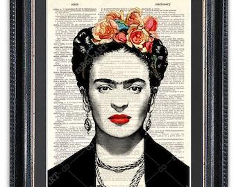 Frida Kahlo, Dictionary Art Print, Frida Kahlo Print, Frida Kahlo Decor, Frida Kahlo Poster