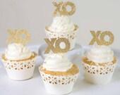 6 x XO Cupcake Toppers - ...