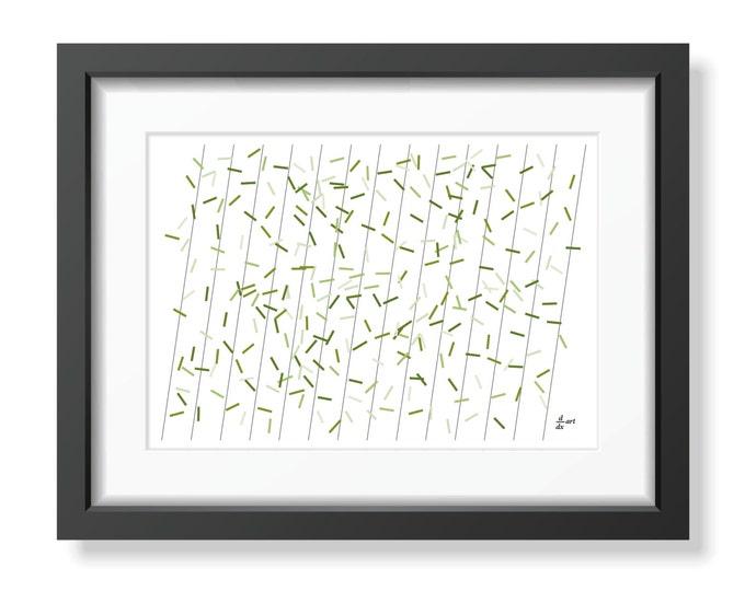 Pi sticks 09 [mathematical abstract art print, unframed] A4/A3 sizes
