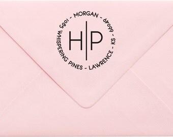 Custom Return Address Stamp, Wedding Address Stamp, Change of Address Stamp, Modern Address Stamp, Wedding Shower Gift, Teacher Gift 23MP