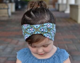 Baby Turban Headband, Floral, Baby Headwrap, Baby Headband, Adult Turban Headband