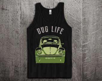 VW Beetle Tank Top, Bus & Bug tank top, Classic beetle shirts, Unisex tanks, Beetle t shirts, VW Tank tops by Motomotiveink, Bug funny tanks