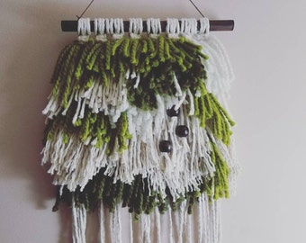 Yarn Fiber Wall Hanging: Green Dream