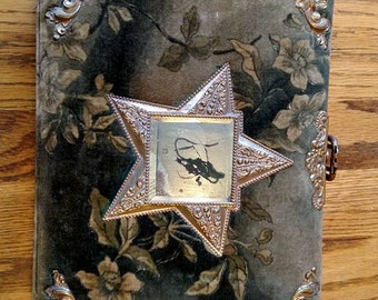 Vintage Victorian Velvet Photo Album