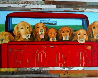 Truck Load of Gingers,  Framed Giclee print