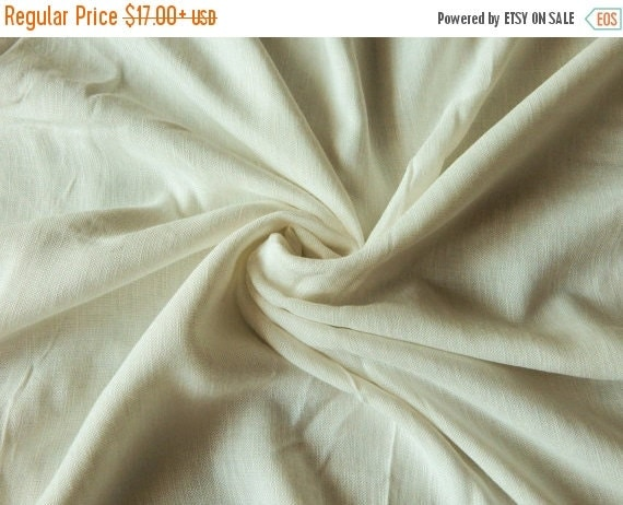 10% OFF 1 yard of Pure Linen Fabric Off-White Linen by ...