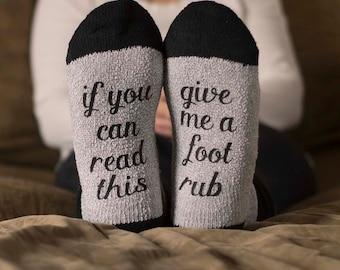 If You Can Read This Socks - Foot Rub Socks - Fathers Day Gift - Groomsman Gift - Funny Socks for Men - Mens Socks - Gift for Men