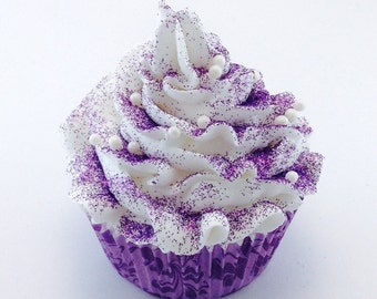 Bath Bombs - Cupcake Bath Bomb - Bath Bombs for Kids - Lavender Bath Bomb - Gifts under 10 - Bath Bomb Cupcake - Bath Bomb Gift - Purple