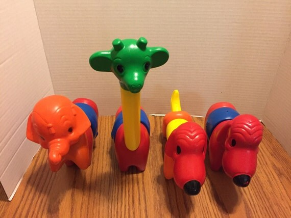 Tupperware TupperToy Zoo It Yourself set of 15 pieces. Vintage 1960s 1970s.