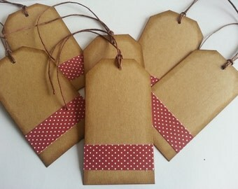 Kraft Tags, Brown Kraft tags, Large gift Tags, Scrapbooking tags, Set of 6