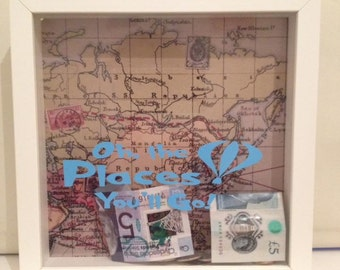 Oh The Places We Will Go Money Box Frame
