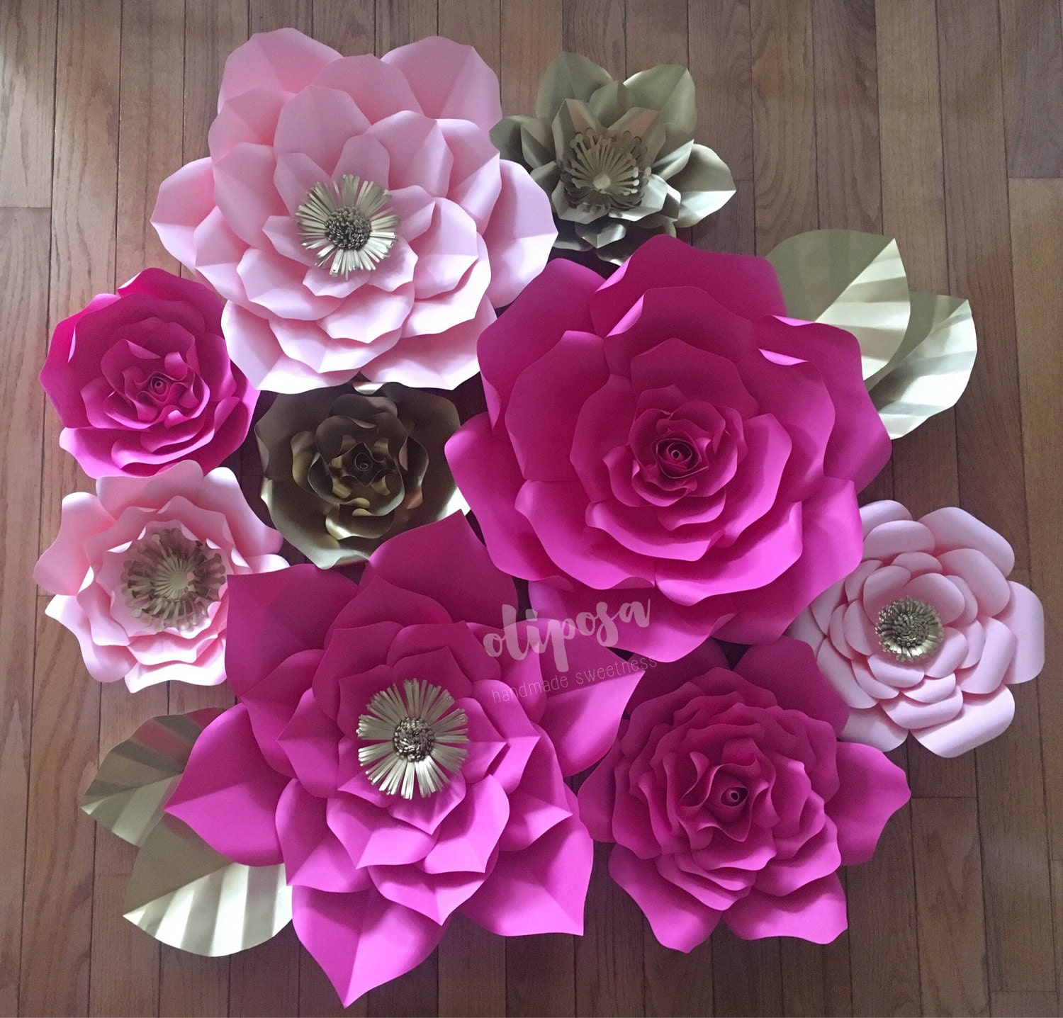 9 Pc Paper Flowers Nursery Toddler Room Home Decor By Shopoliposa