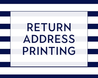 Return Address Printing - Set of 10 Envelopes